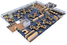 3d office design. Wonderful Design 3D Office Layout Space Planning For Large With Cubicle To 3d Design