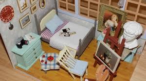 Miniature Dollhouse Bedroom Furniture Diy Miniature Dollhouse Bedroom Youtube