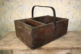 19th century antique oak farriers tool box