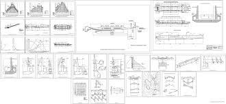 Дипломные проекты и курсовые работы скачать чертежи в autocad в  Курсовой проект Бетонный шлюз и судоходный канал