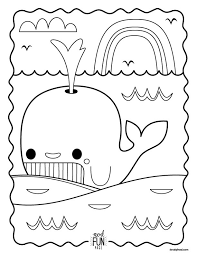Small Picture Printable Whale Coloring Page Perfect for Road Trips