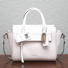 White Coach Bleecker Mini Riley Carryall Authentic