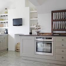 Light Grey Cabinets In Kitchen Light Grey Kitchens Green Ceramic Backsplash Round Varnished