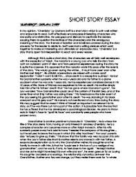 short story essay chemistry by graham swift gcse english  page 1 zoom in