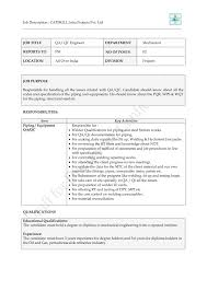 Mechanical Qc Inspector Resume Resume For Your Job Application