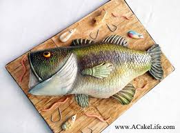 Realistic Bass Fish Grooms Cake A Cake Life