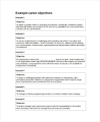 Objective For Resume In Sales Resume Objective Example 10 Samples In Word Pdf