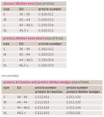 Medifeet Size Chart Protect Walker Boot Fixed Walkers From Medi
