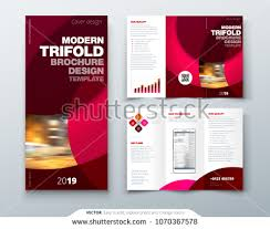 Trifold Brochure Size Creative Circles Tri Fold Brochure Template Design For Business