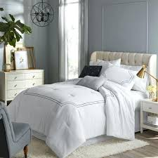 hotel style white embroidered comforter set 5 pieces full queen bedding 11 piece