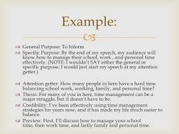 speech writing introduction and conclusion example  general purpose to