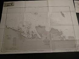 Us Navy Nautical Charts Vintage Us Navy Nautical Chart Canada Hudson Strait