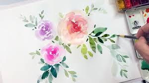 Easy Floral Designs To Paint 7 Easy Steps To Simple Watercolor Flowers Tutorial Tropic