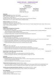 010 Undergraduate Student Cv Template Ideas Sample Fascinating