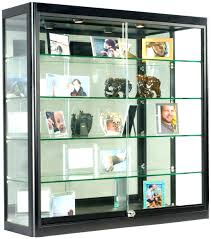 glass display cabinet box with lock shot plans
