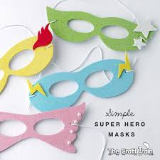Mask Templates For Adults Custom Simple Super Hero Masks With Printable Template The Craft Train