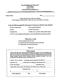 Legal Liability Waiver Form Are You Protecting Your Travel Agency Sample Travel Waivers 19