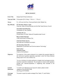 Media Advisory Media Advisory Dti Respectfully Invites The Members Of The Media To