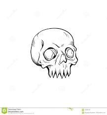 изолированный вектор эскиза татуировки чернил черепа иллюстрация