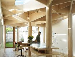 green eco office building interiors natural light. Daylit Ghent House Extension By Atelier Vens Vanbelle Looks Like A Geometric Forest Green Eco Office Building Interiors Natural Light L