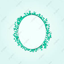 elegant green round confetti frame