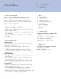Study our biotechnology cv sample for a good example of how these sections should look. Professional Biology Resume Examples For 2021 Livecareer