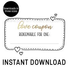 Printable Love Coupons Love Coupon Book Printable Coupon Book Coupon Book For Him Diy Valentines Gift Diy Christmas Gift Diy Gift