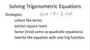 solving trigonometric equations overview
