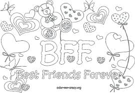 Bff Coloring Pages Best Friend Coloring Page Friends Colouring Pages
