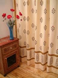 red poppy ethnic indian print fl bathroom shower curtain