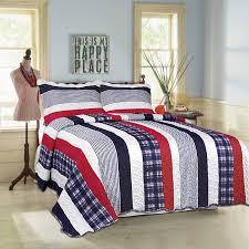 boston stripe boys bedspread