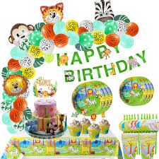 <b>Jungle</b> Party Decoration Disposable Tableware Cups For <b>Birthday</b> ...