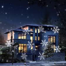 led snowflake effect lights outdoor light projector garden outside holiday xmas tree decoration landscape lighting