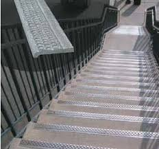 exterior stair treads and nosings. wooster products offers stair nosings and structural treads in both cast aluminum (alumogrit®) iron (ferrogrit®). exterior