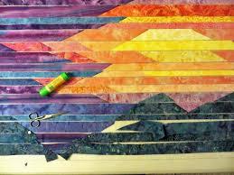 Cathy Geier's Quilty Art Blog: Making Blue Ridge Mountain Sunset & Making Blue Ridge Mountain Sunset Adamdwight.com