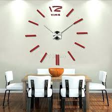 diy giant wall clock large wall clocks modern large wall clock mirror surface large wall clock