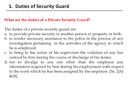 security officer duties and responsibilities psara 2005
