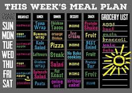 meal planning chart chart and soul magnetic meal planning calendar and grocery list