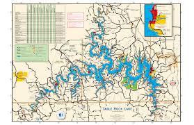 Table Rock Lake Missouri And Arkansas Maps Usace