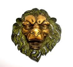 metal lion face wall art decor sculpture