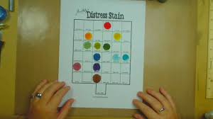 Tim Holtz Distress Stain Chart