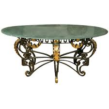 art nouveau style le glass round dining table at 1stdibs deco room cha