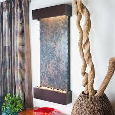 water wonders large nojoqui falls lightweight slate wall fountain in copper vein trim wwlvs cv the home depot
