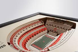 Ohio Stadium 3d Seating Chart Ohio State Buckeyes Ohio Stadium 3d Wood Stadium Replica 3d Wood Maps Bella Maps