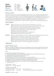 Sample Of Nursing Resume Sample Resume Resume Example Nursing School