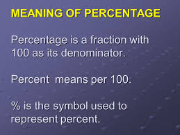 2 meaning of percentage percentage