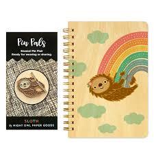 rainbow sloth gift set