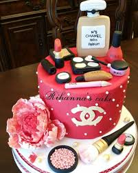 Latest Birthday Cake Design 2017 Chanel Make Up Cake Happy Birthday Cake