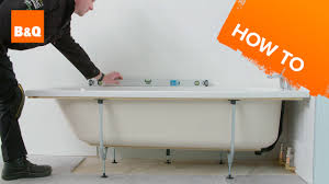 how to install a standard acrylic bath