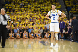 ball lakers jersey. los angeles, ca - march 01: ucla guard lonzo ball (2) looks lakers jersey
